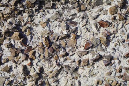 Photo pour concrete wall mixed with small natural stones, background texture - image libre de droit