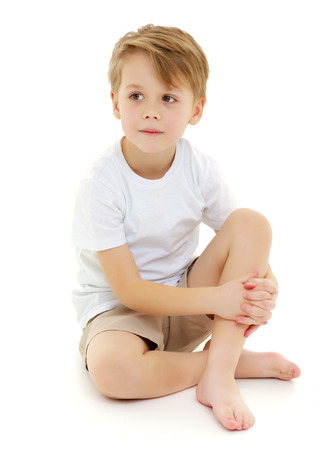 Photo for Sad little boy. - Royalty Free Image