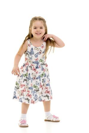 Photo pour Beautiful little girl laughing. - image libre de droit