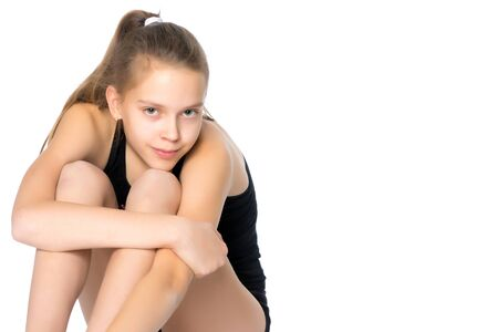 Photo for A teenage girl is engaged in fitness. - Royalty Free Image