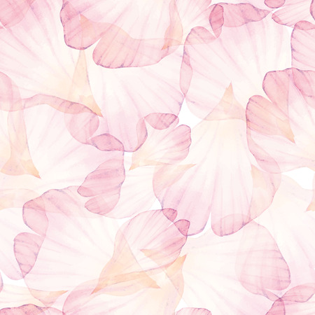Watercolor Seamless pattern. Pink flower petal.