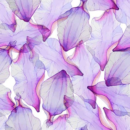 Illustration pour Seamless pattern with pink flower petal. - image libre de droit