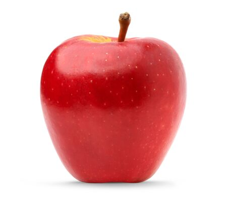 Photo for fresh red apple isolate on white background. fruit healthy concept - Royalty Free Image