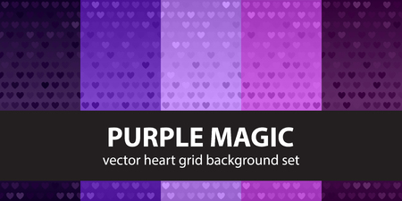 Heart pattern set Purple Magic
