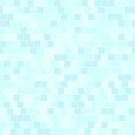 Illustration pour Cyan square pattern. Seamless vector background - blue quadratic bricks on light cyan backdrop - image libre de droit