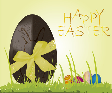 Chocolate egg  happy easter background