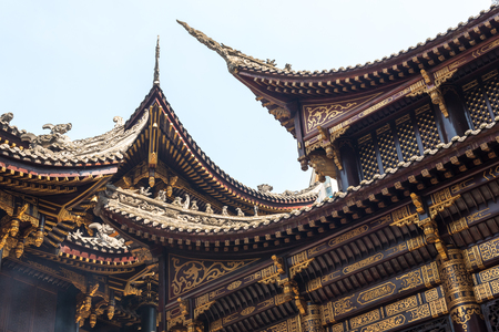 Photo for Traditional chinese architecture details in BaoLunSi temple Chongqing - Royalty Free Image