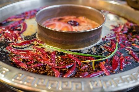 Photo for Chengdu Sichuan Hot Pot close up, Chenggdu, Sichuan Province, China - Royalty Free Image