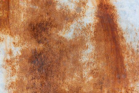 Photo pour Rust texture on white surface close up view - image libre de droit