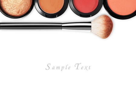 makeup set isolated on white backgroundの写真素材