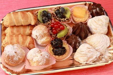 tray of pastries