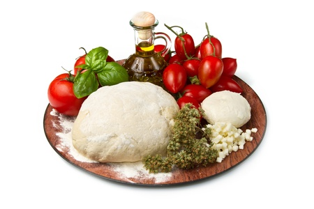 Photo for ingredients for homemade pizza  - Royalty Free Image