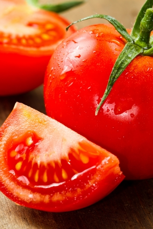 red fresh tomatoes