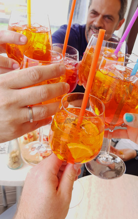 Aperitif with friends