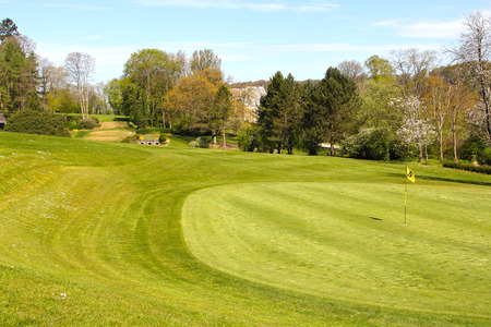 Beautiful landscape of golf course in Saint Saens France
