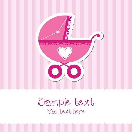 Bright baby girl card