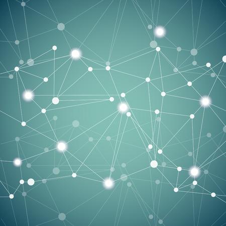Illustration pour Polygonal background with abstract molecular connection. - image libre de droit