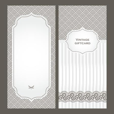 Ilustración de Art Deco vintage decorative frame. Retro card design template - Imagen libre de derechos