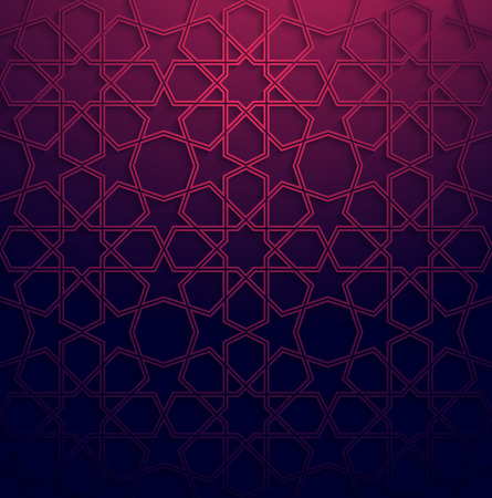 Abstract white arabic art colorful background with shadow effect.