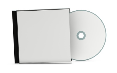 one cd or dvd case with a disc (3d render)
