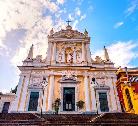 Santa Margherita Church basilica in Liguria - local landmark of Italy