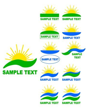 Sun vector logos