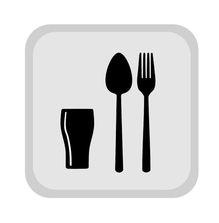 Sign with spoon, fork and glass