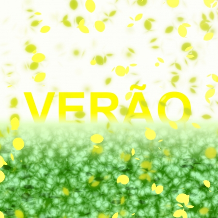 A seasonal word/phrase from a text effect serie. Verão is in Portuguese-BR language and it means Summer.