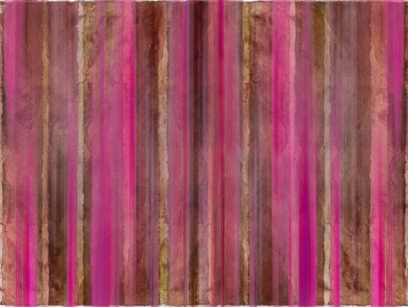 Brown and pink watercolor wash stripes with text space