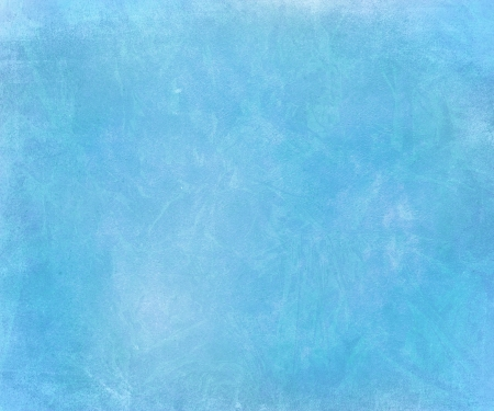 Blue sky chalk smudged handmade paper textured background