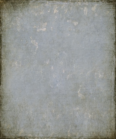 Image of a Faded Blue Grunge Plaster with Burnt Frame