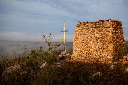Stone chapel at hill in Nobres - Mato Grosso - Brazil