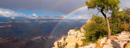 rainbow on Grand Canyon panorama