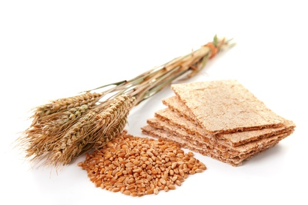 Crispbread with grains and wheat, healthy food