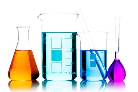 Chemical glassware in the laboratory