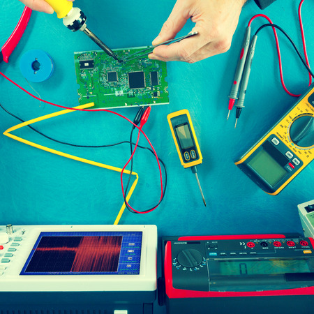 electronic measuring instruments, toned photo