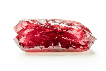 Photo for Natural mineral crystal red ruby - Royalty Free Image