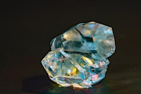 Foto für Gemstone nugget. Clear rough diamond - Lizenzfreies Bild