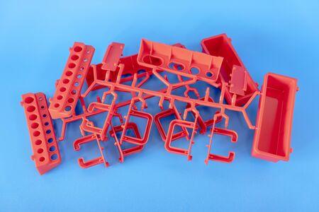 Photo pour Industrial injection molding press the manufacture of plastic parts - image libre de droit