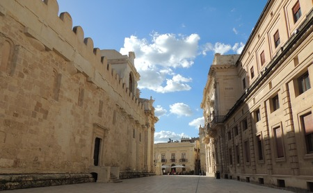 prospect of a square in the historical center of the baroque Ortigia in Syracuse, Sicily, Italy