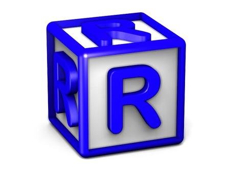 R Letter Cube