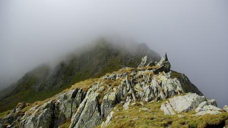 Way to Moldoveanu Peak, the highest peak in Romanian Carpathians