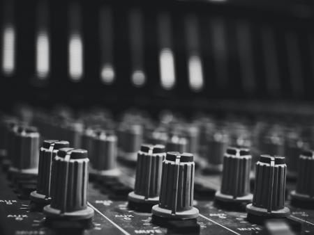 music studio console