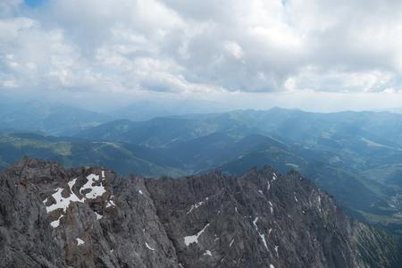 Beautiful spring mountain alpine nature with rocks