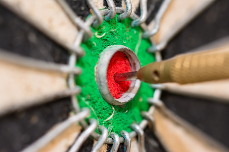 Dart on target, bullseye
