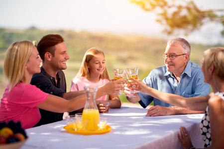 Photo pour group family leisure vacation togetherness fun concept - image libre de droit