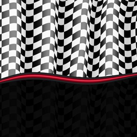 Illustration pour Racing Background  Checkered Flag  Vector eps10 - image libre de droit