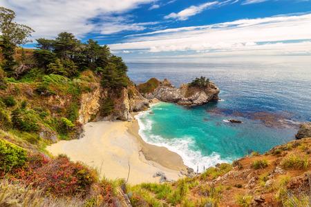 California beach and falls