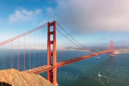 Photo for Golden Gate Bridge at sunset, San Francisco, California. - Royalty Free Image