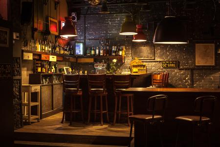 Foto de This is interior of modern european pub. - Imagen libre de derechos